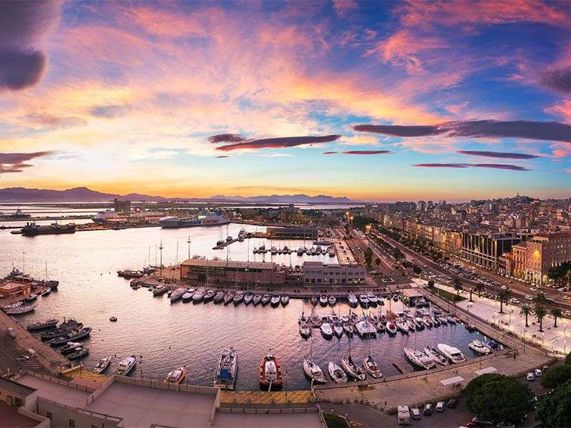 Port in Cagliari