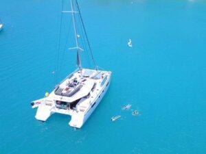 Luxus catamaran bérlés