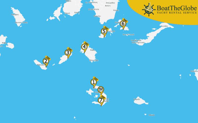 Santorini-i vitorlázás