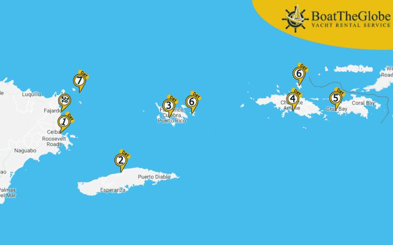 katamarán túra a culebra-szigetre