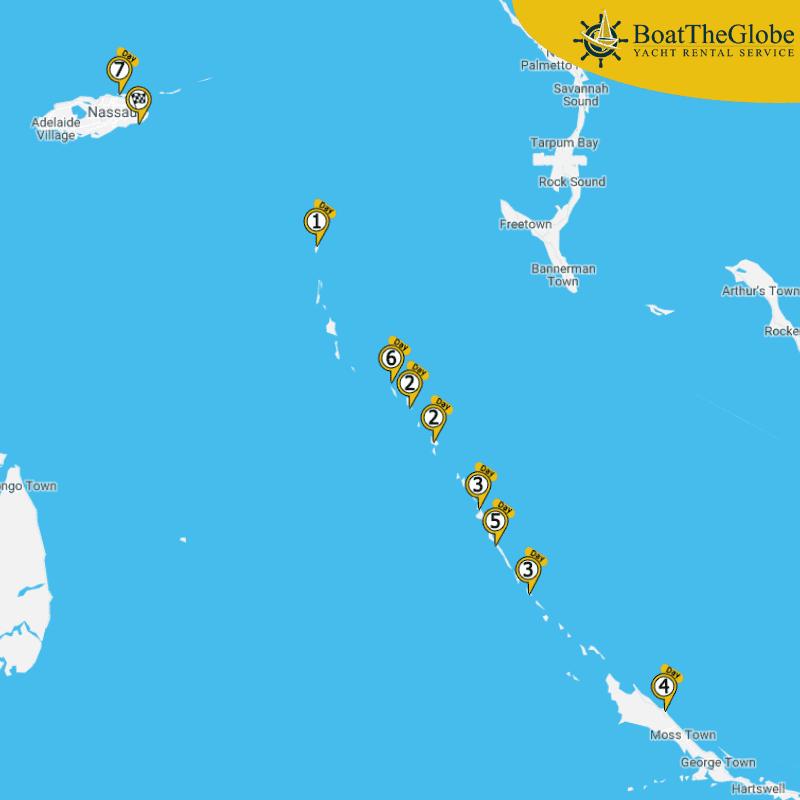 vitorlázás az Exumákon, bahamai vitorlázás