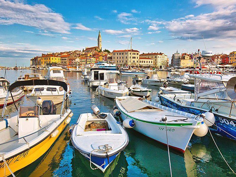 kikötők Rovinjban