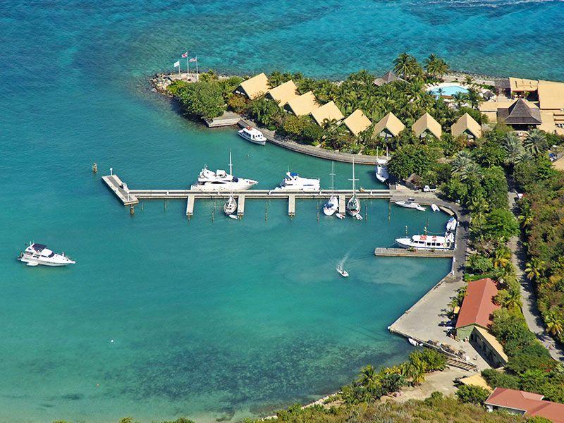 Kikötők Tortola környékén