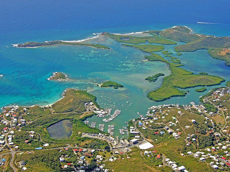 szigetek Saint Thomas közelében