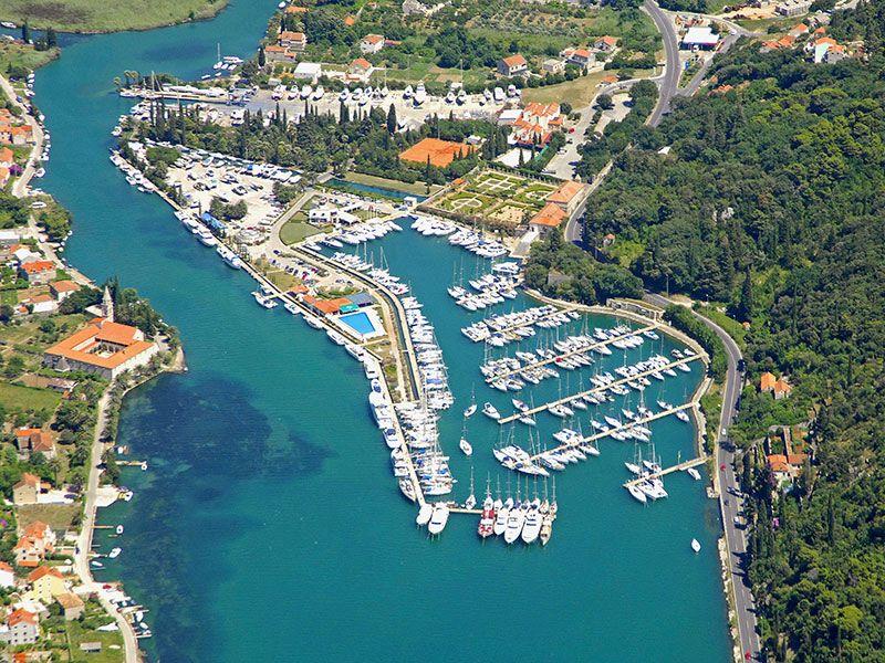 Kikötők Cavtat környékén