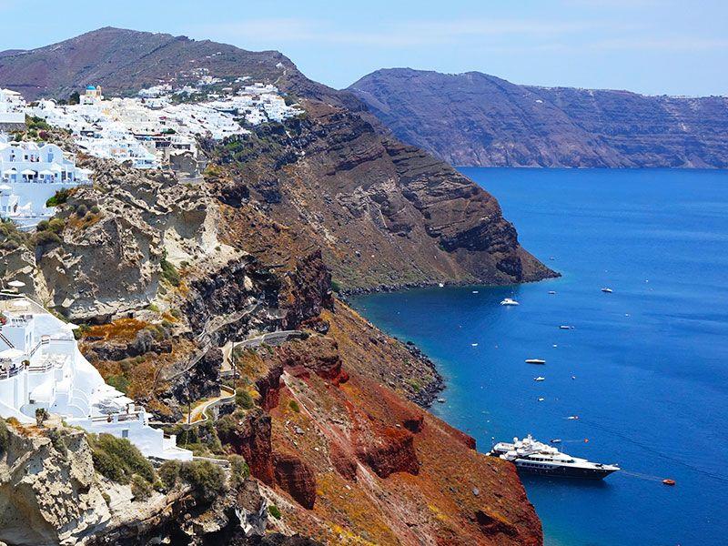 Hajós útvonaltervező Krétáról Szantorinire
