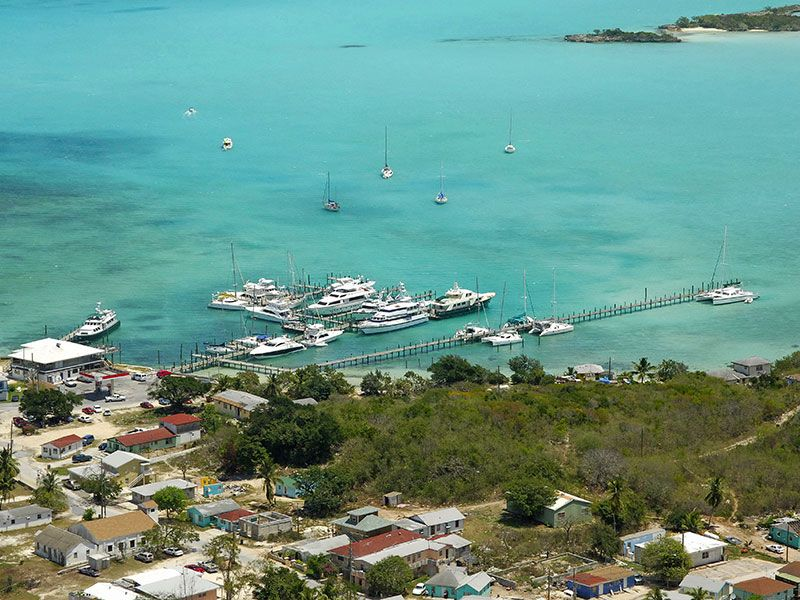 Kikötők az Exuma-szigeteken