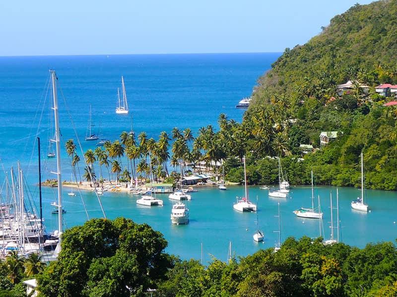 Vitorlázás St. Lucia